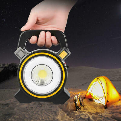 30W Solar Portable Rechargeable LED Flood Outdoor Emergency Light Work Lamp