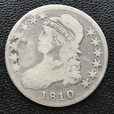 1810 Capped Bust Half Dollar 50c Better Grade  Plugged #16931