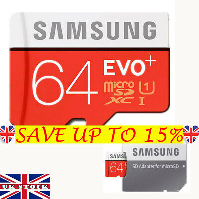 Samsung Memory 64GB EVO+ TF/Micro SD Card Class 10 SDXC  with Adapter UK StockBE