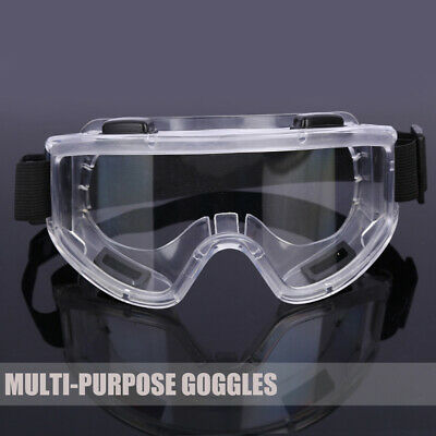 Clear Lens Protective Lab Safety Glasses Eye Protection Goggles