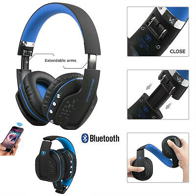 BLUE BEEXCELLENT BLUETOOTH Wireless Foldable Gaming Headset For Xbox