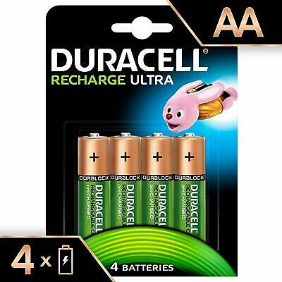 Duracell Recharge Ultra AA LR6 2500mAh Rechargeable Batteries   4 Pack