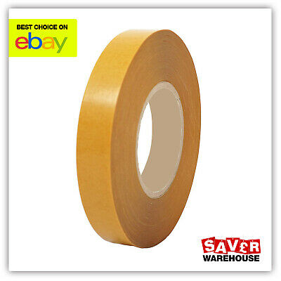 Double Sided Tape   Strong Sticky Adhesive   Use for Banner Hemming   20mm x 50m