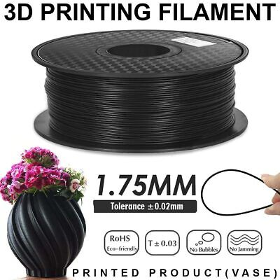3D Printer Filament PLA – 1.75mm -1KG- Black Colours Available