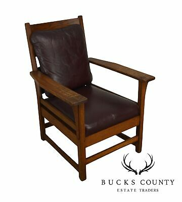 L. & J. G. Stickley Antique Mission Oak Lounge Chair