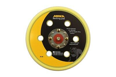 MIRKA Medium Backing Pad 6H 5/16Inch 150mm DA Sander Sanding Disc Hook Loop Grip