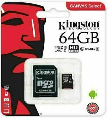 Genuine Official Kingston Micro Sd Sdhc Memory Card 8,16,32 Class 4 Card Adapter