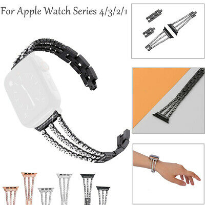 Wristband Straps Cuff Bangle Diamond Replaceable For Apple Watch 4/3/2/1 42/40mm