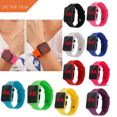 Simple Digital LED Electronic Watch Silicone Strap Men And Women Watch Cheap UK
