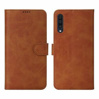 For Galaxy A50 Wallet Case Leather Flip Cover Card Slots Kickstand Magnetic Lock