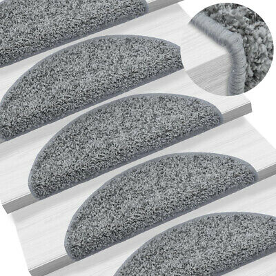 Stair Tread Mats Grey Carpet Step Staircase Non Slip Pads (Multiple Colours) NEW