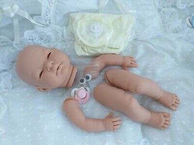 """SOFT VINYL DOLL KIT """"PIPPA""""withEYES &LASHES +20in DISK JOINTED BODY+PINK DUMMY"""