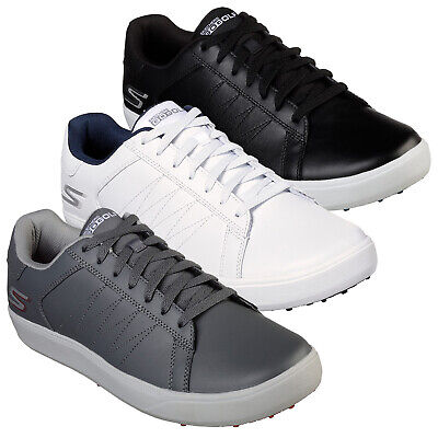 2019 Skechers Mens Go Golf Drive 4 Golf Shoes Leather Spikeless Water Resistant