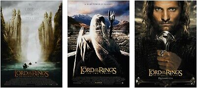The Lord Of The Rings Trilogy Large Poster Art Print Set A0 A1 A2 A3 A4 A5 Maxi