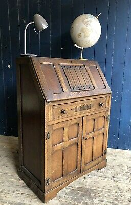 Marrus Oak Bureau Desk Vintage Antique  Style Oozing With Old Charm DELIVERY*