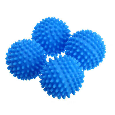 Dryer Balls 4 Pack Blue Reusable Dryer Balls Replace Laundry Drying Fabric 6.5cm