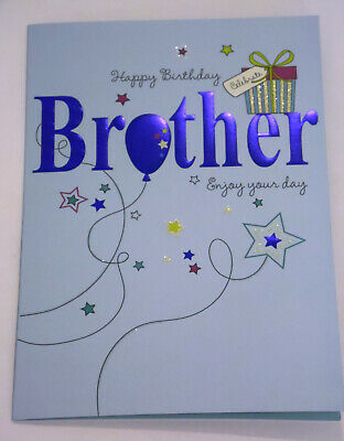12 BROTHER BIRTHDAY CARDS CODE 75 JUST 25p 6 X 9