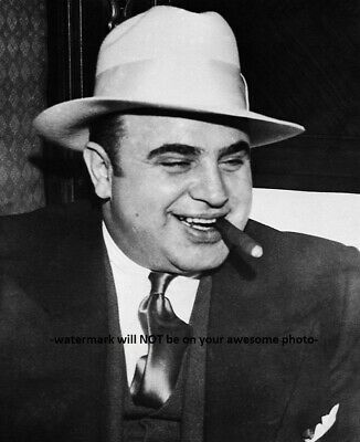 Silver Halide Photo Scarface Alphonse Al Capone Cigar And His Lawyer In Miami
