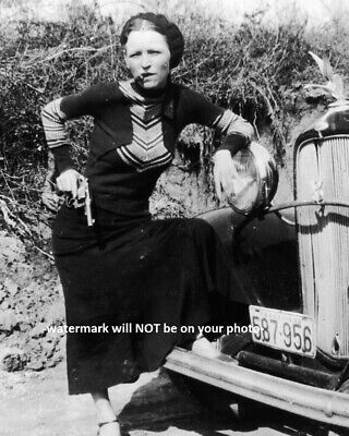 8x10 Bonnie Parker PHOTO Gangster Bonnie and Clyde Gang Prohibition Era Car