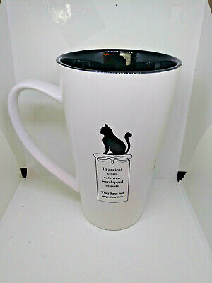 "CAT "" In ancient times cats ..."".10 Strawberry Street Coffee Latte 7"" cup mug"