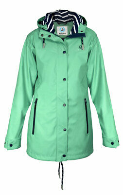 Madsea Donna Cappotto Impermeabile Friesennerz Verde Lime