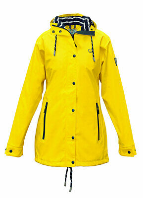 Madsea Donna Cappotto Impermeabile Friesennerz Giacca Parka Giallo