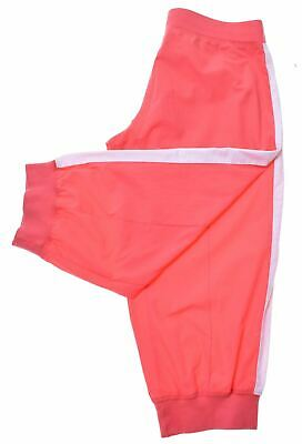 NIKE Girls Tracksuit Capri Trousers 12-13 Years Large Pink Vintage LJ42