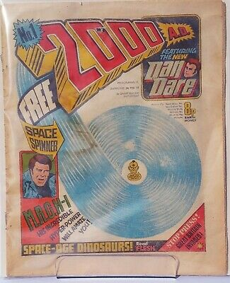 2000AD Prog 1 1st New Dan Dare Vintage British pre Judge Dredd Comic Issue 1977