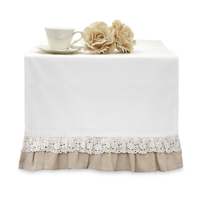 Runner con Volant Shabby Chic Crochet Collection 45 x 150