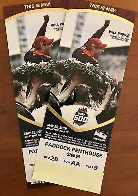 2019 Indy 500 Tickets -Two  Paddock Penthouse Tickets