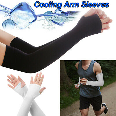 1 Pair Cooling Arm Sleeves Cover Sports UV Sun Protection Unisex Outdoor E0K8