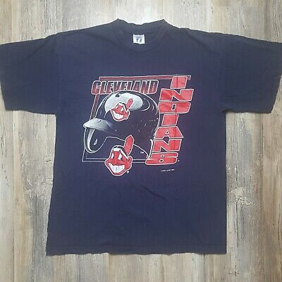 7d1099317 Vintage CLEVELAND INDIANS Logo 7 1995 SHIRT Chief Wahoo Mens Extra Large XL  90s