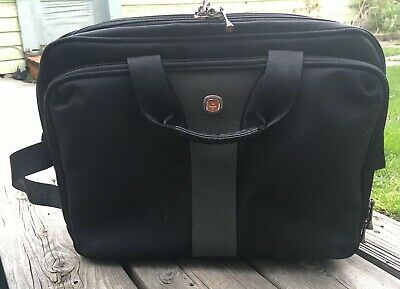 a7a16ad8e Wenger Swiss Army Laptop Computer Case Shoulder Bag Messenger Briefcase  Black