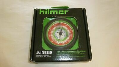 "Hilmor 1839087 Analog 3-1/8"" 80mm R12 R22 R134a Refrigerant High Pressure Gauge"