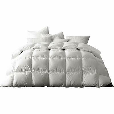 Globon White Goose Down Comforter Queen/Full Size, 50 OZ Fill Weight,