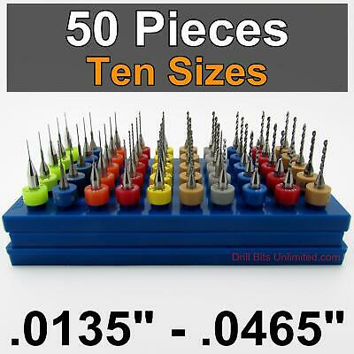"10 Size Carbide Drill Set .0135/"" to .041/"" wood metal plastic cnc D1 10 Piece"