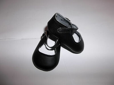 """Black Dress Shoes made for 15"""" and 18"""" American Girl Bitty Doll Clothes"""