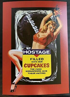 Wacky Packages VARIATIONS 5th SERIES UNCUT Puzzle Set HOSTAGE PULP PINUP