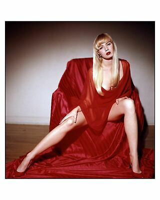 A Traci Lords In A Chair Legs Open Red Dress 8x10 Picture Celebrity Print