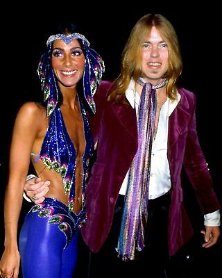 Gregg Allman And Cher Posing For Photo 8x10 Picture Celebrity Print