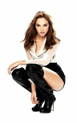Gal Gadot Crouching Posing With Boots 8x10 Picture Celebrity Print