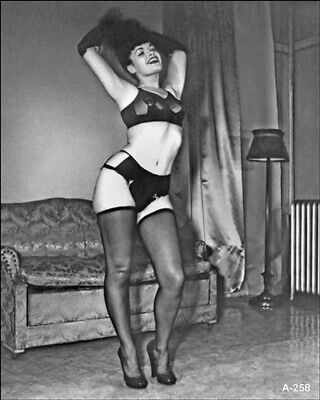 Bettie Page Raising Her Hair 8x10 Picture Celebrity Print