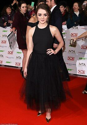 Maisie Williams Posing Black Dress 8x10 Picture Celebrity Print