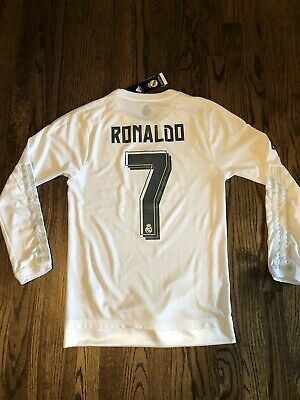 e0d1f45b8 REAL MADRID HOME Long Sleeve Jersey   Brand New   Size XL -  15.99 ...