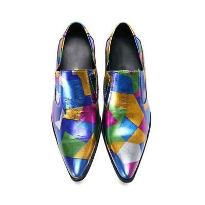New Mens Slip On Pointy Toe Loafers Dress Formal Shoes Wedding Bridal Size Ths01