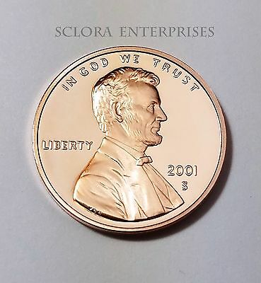2001 S Lincoln Memorial *Proof* Cent / Penny  **Free Shipping**