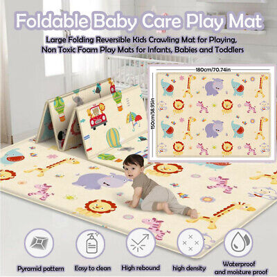 Large Foldable Double-sided Child Crawling Mat For Baby Non-toxic Game Mat US