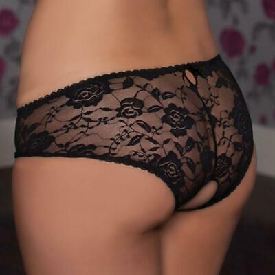 Women Open Crotch Lace Underwear Briefs Panties G-string Lingerie Thongs Girls