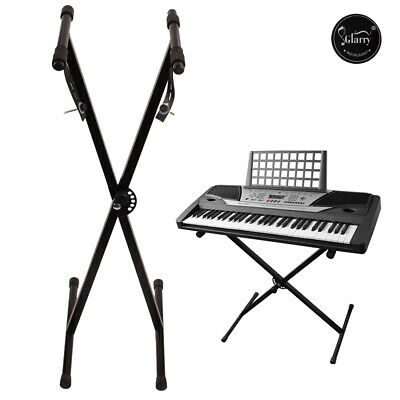 Glarry Keyboard Stand X Style Type Adjustable Electronic Piano Organ Rack