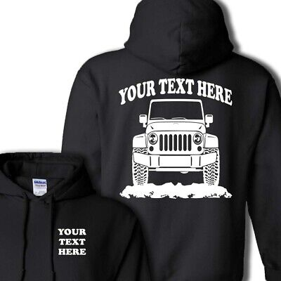 f55baacdd JEEP JK WRANGLER 2006-2015 4x4 OFFROAD PERSONALIZED PULLOVER HOODIE -  #HOR028